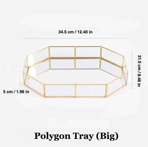 Gold Mirrored Polygon Tray