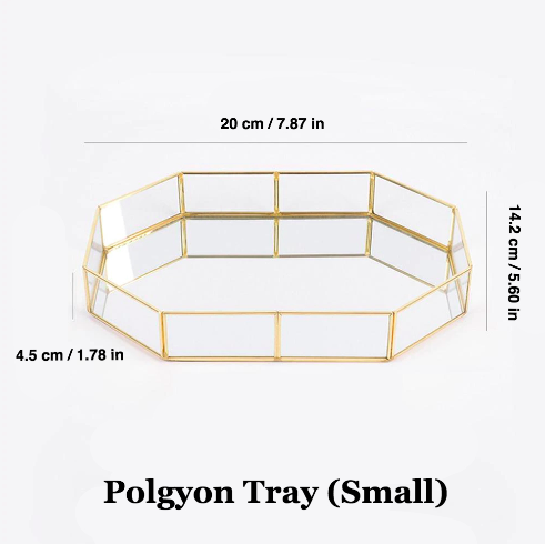 Gold Polygon Tray