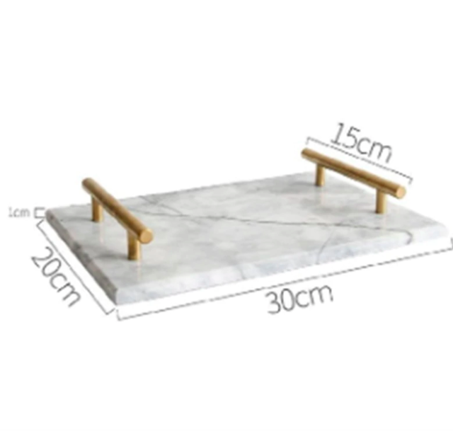 Marble Storage Tray with Handle