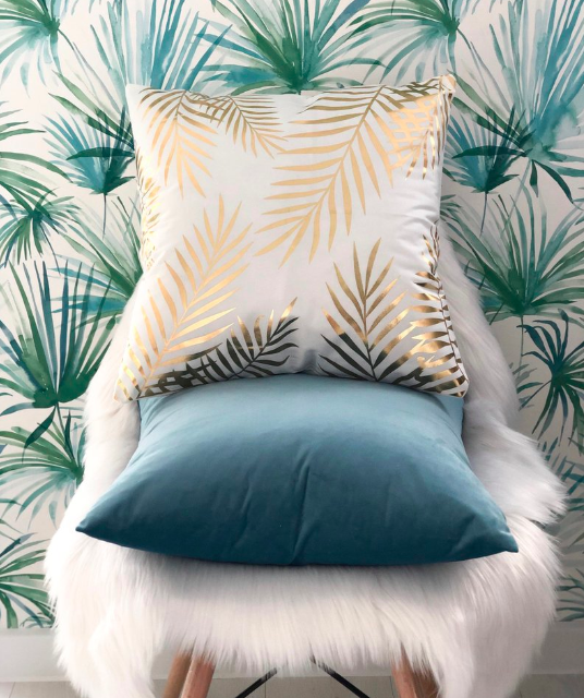 Tropical Leaves Pillow
