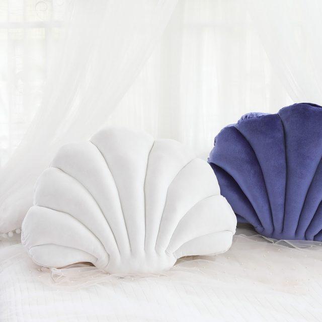 PB Velvet Seashell Pillow